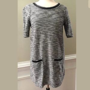Anthropologie Postmark Black Gray Tunic Dress